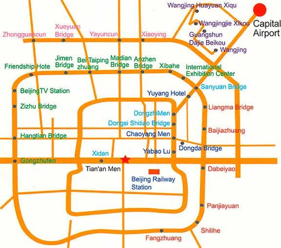 маршруты автобусов Пекина